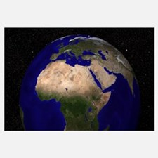 Global view of Earth over North Africa, Europe, th