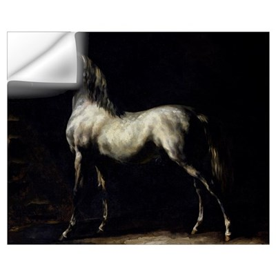 Study of a Dapple Grey (oil on canvas) Wall Decal