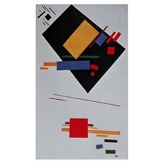 Suprematist Composition, 1915 (oil on canvas) Poster