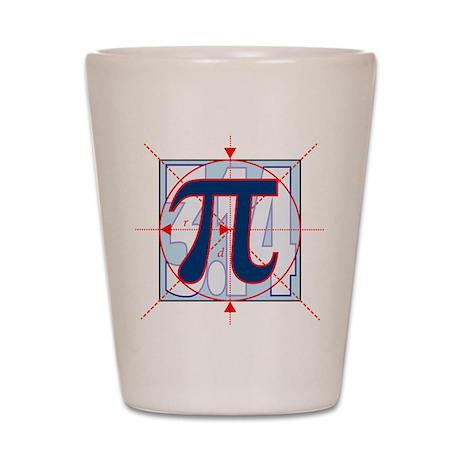 Pi Sign Drawing Shot Glass