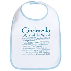 Cinderella Around the World Bib