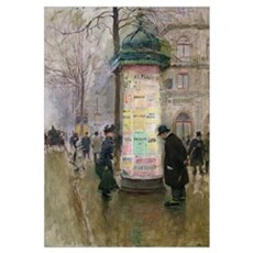 The Colonne Morris, c.1885 (oil on panel) Poster
