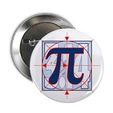 "Pi Sign Drawing 2.25"" Button (10 pack)"