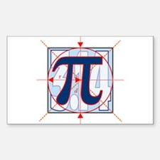 Pi Sign Drawing Decal
