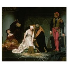 The Execution of Lady Jane Grey, 1833 (oil on canv Poster