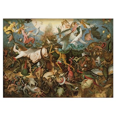 The Fall of the Rebel Angels, 1562 (oil on panel) Poster