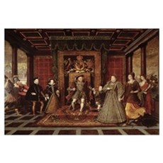 The Family of Henry VIII: An Allegory of the Tudor Framed Print