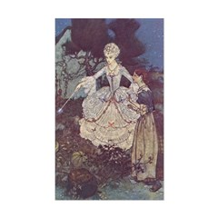 Dulac's Cinderella & Godmother Sticker (Rectangula