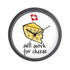 Work for Cheese Wall Clock