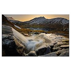 A small creek running through Skittendalen Valley Poster