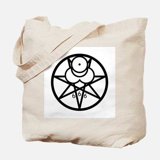Mark of the Beast Tote Bag - b/w