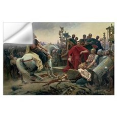 Vercingetorix throws down his arms at the feet of Wall Decal