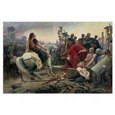Vercingetorix throws down his arms at the feet of  Poster