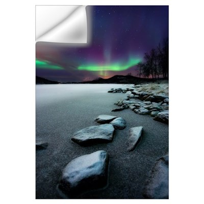 Aurora Borealis over Sandvannet Lake in Troms Coun Wall Decal