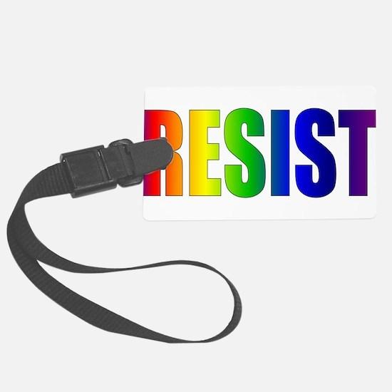 Rainbow Resist Trump Luggage Tag