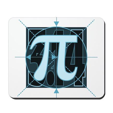 Pi Sign Drawing Mousepad