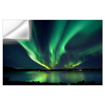 Aurora Borealis over Tjeldsundet in Troms County, Wall Decal
