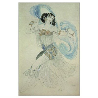 Costume design for Salome in 'Dance of the Seven V Poster