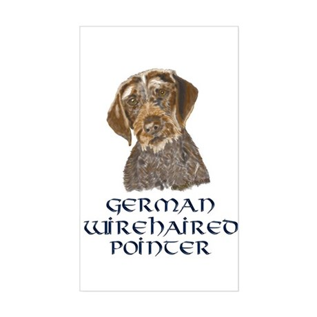German Wirehaired Pointer Rectangle Sticker