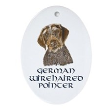 German Wirehaired Pointer Oval Ornament