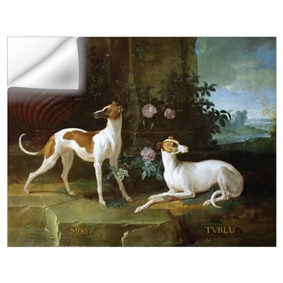 Misse and Turlu, two greyhounds of Louis XV (oil o Wall Decal