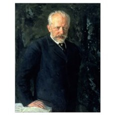 Portrait of Piotr Ilyich Tchaikovsky (1840-93), Ru Poster