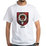 Young Clan Crest Tartan White T-Shirt