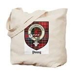 Young Clan Crest Tartan Tote Bag
