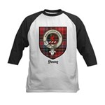 Young Clan Crest Tartan Kids Baseball Jersey