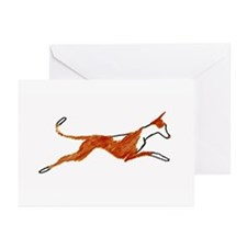 Leaping Ibizan Hound Greeting Cards (Pk of 10)