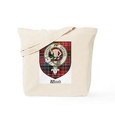 Wood Clan Crest Tartan Tote Bag