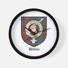 Wilson Clan Crest Tartan Wall Clock