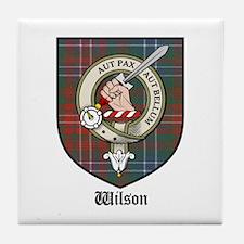 Wilson Clan Crest Tartan Tile Coaster