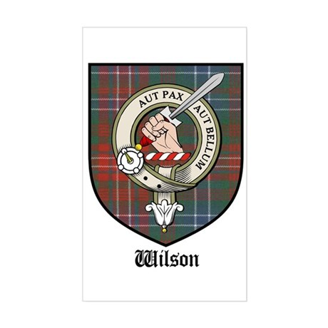 Wilson Clan Crest Tartan Rectangle Sticker