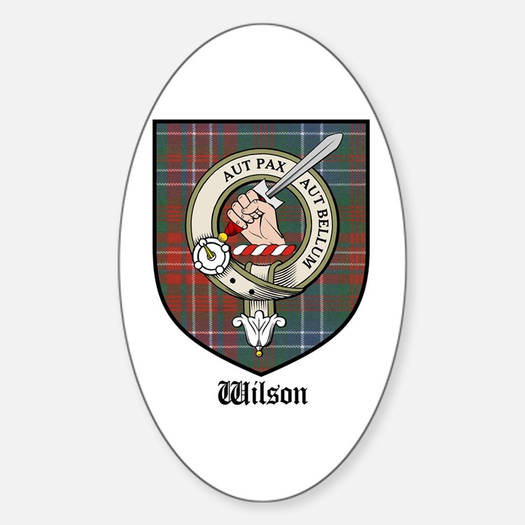 Wilson Clan Crest Tartan Oval Decal
