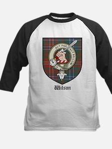 Wilson Clan Crest Tartan Kids Baseball Jersey