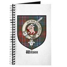 Wilson Clan Crest Tartan Journal
