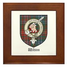 Wilson Clan Crest Tartan Framed Tile