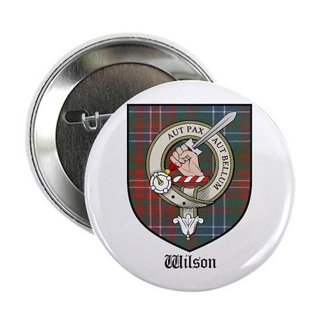 """Wilson Clan Crest Tartan 2.25"""" Button (10 pack)"""