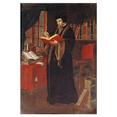 Portrait of John Calvin (1509-64), French theologi Poster