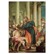 The Miracle of St. Barnabas, c.1566 (oil on canvas Poster