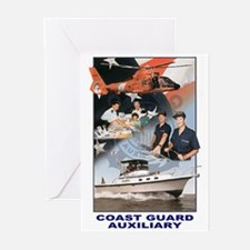 USCG Auxiliary Image<BR> 6 Greeting Cards