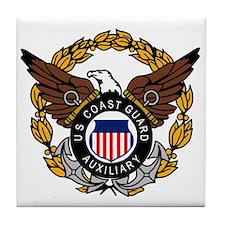 USCG Auxiliary Image<BR> Tile Coaster