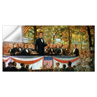 Abraham Lincoln and Stephen A. Douglas debating at Wall Decal
