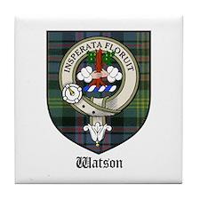 Watson Clan Crest Tartan Tile Coaster