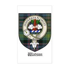 Watson Clan Crest Tartan Rectangle Decal