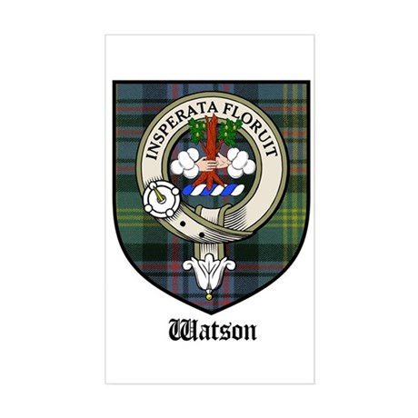 Watson Clan Crest Tartan Rectangle Sticker