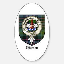 Watson Clan Crest Tartan Oval Decal