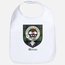 Watson Clan Crest Tartan Bib