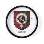 Wallace Clan Crest Tartan Wall Clock